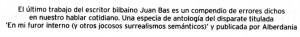 """""""Bilbao, abril de 2011, suplemento """"Pérgola"""", página 13."""