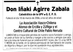 """""""El Correo""""13-3-2006, página 17."""
