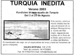 """""""El Mundo del País Vasco"""", 22-8-2003, página 53."""