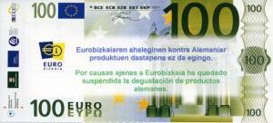 Facsímil de 100 euros, de Eurobizkaia.