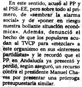 """""""El Mundo del País Vasco"""", 10-11-2000, página 21."""