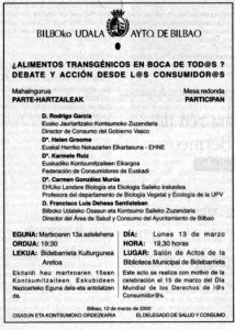 """""""El País"""", edición País Vasco, 12-3-2000, página 6."""