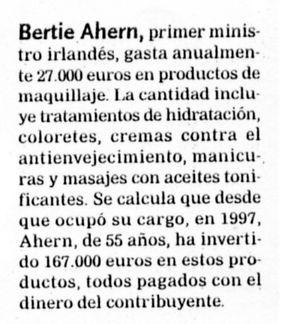 """""""El Correo"""", 26-5-2006, última página."""