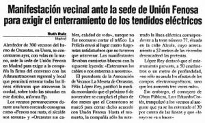 """""""La Razón"""", Edición Madrid, 31-10-2001."""