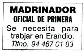 """""""El Correo"""", 20-9-1998, página 8."""
