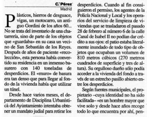 """""""La Razón"""", 20-03-2001."""
