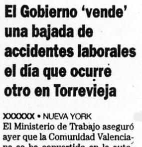 La Verdad de Alicante, 18-5-2001, página 16.