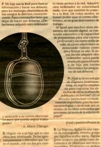 """""""El Mundo"""", suplemento """"Su Dinero"""", 15-11-98, página 31."""