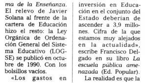 """""""El Mundo"""", 17-9-2000, página 31."""