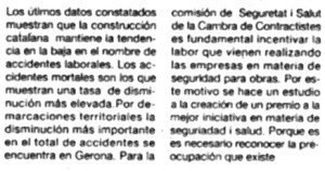 """La Mañana"", 25-11-01, página 37."