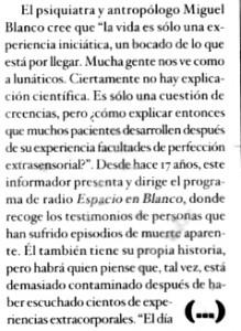 """""""Magazine"""" de """"El Mundo"""", 29-10-2000."""