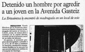 """""""El Periódico de Álava"""", 9-1-1999, página 6."""