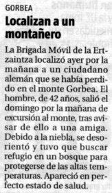 """""""El Nervión"""", 10-1-2006, página 4."""