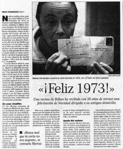 """""""El Correo"""", 13-1-1999, página 11."""