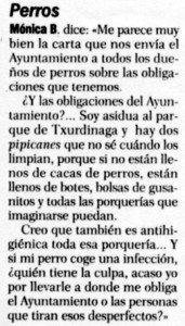 """""""El Correo"""", 20-4-1999, página 6."""