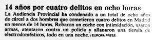 """""""El Mundo"""" de Madrid, 30-7-1998, página 5."""