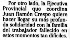 """""""El Día"""" de Toledo, 22-6-2001, página 25."""