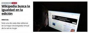 El sexo de las editoras de Wikipedia